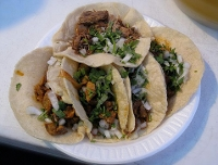 The king of street meat in Belize - the taco