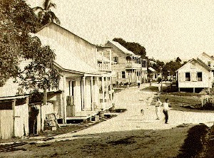 A view of the main Burns Ave. intersection - San Ignacio Belize 1911