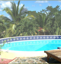 The Swimming Pool at Log Cab-inn San Ignacio Belize