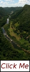 Arial view of Black Rock Lodge in just outside San Ignacio Belize.