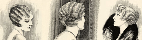 A three sided view of some flapper hair